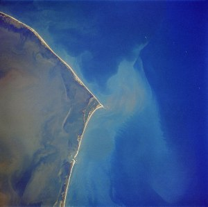 Patriots disappearance - Satellite image of Cape Hatteras