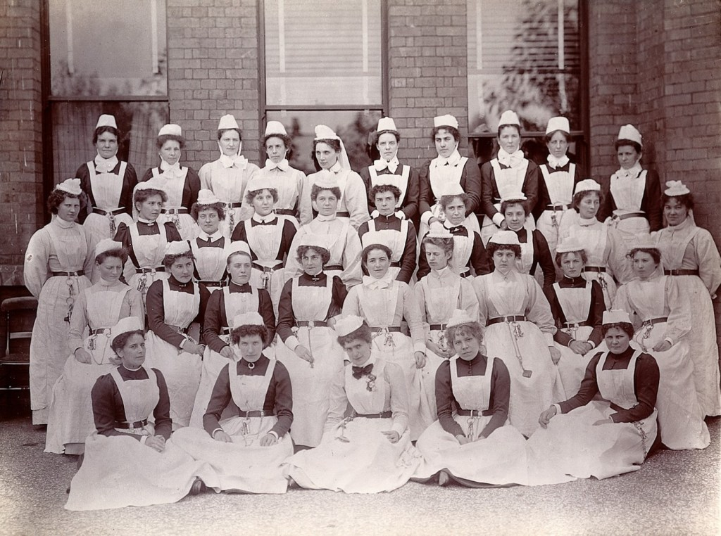 Jane Cakebread - Nurses at Claybury in approxiately 1893.