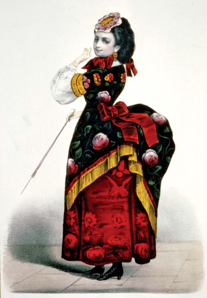 Dolly Varden fashions - Currier and Ives