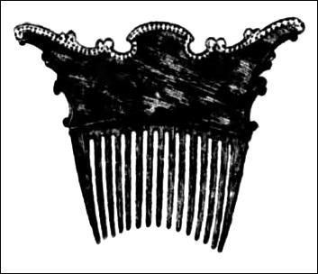Louis XIV decorative hair combs