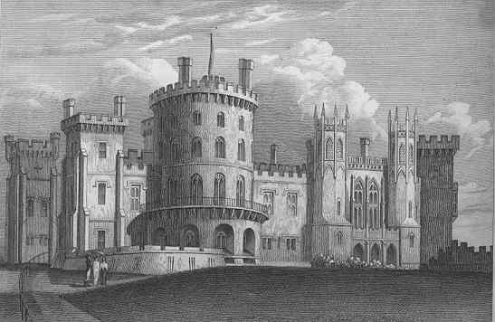 Belvoir castle fire - castle in 1829