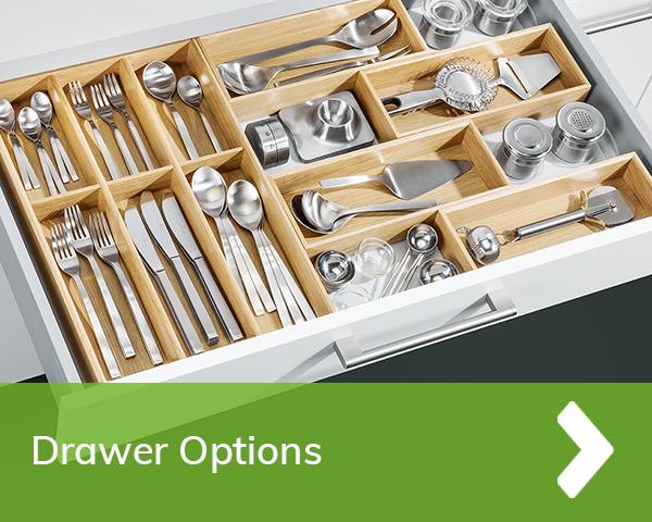 German Kitchens Cardiff - drawer storage