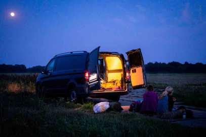 German-Trail Tagesziel erreicht Verpflegung am Abend