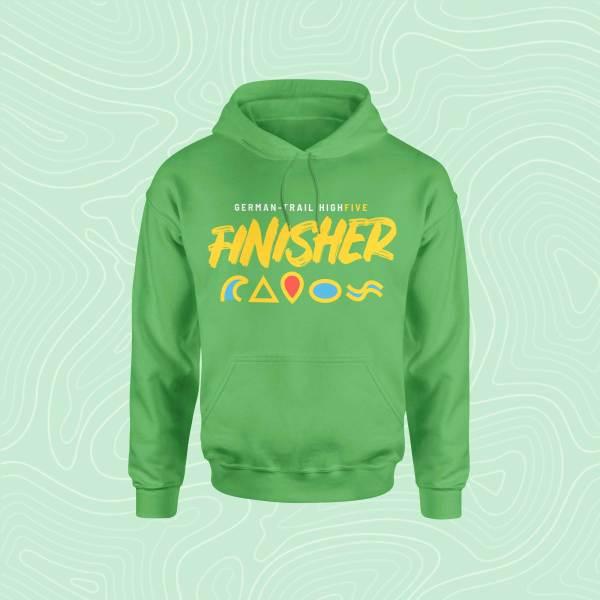 German-Trail High Five Finisher Hoodie Pullover Green Grün