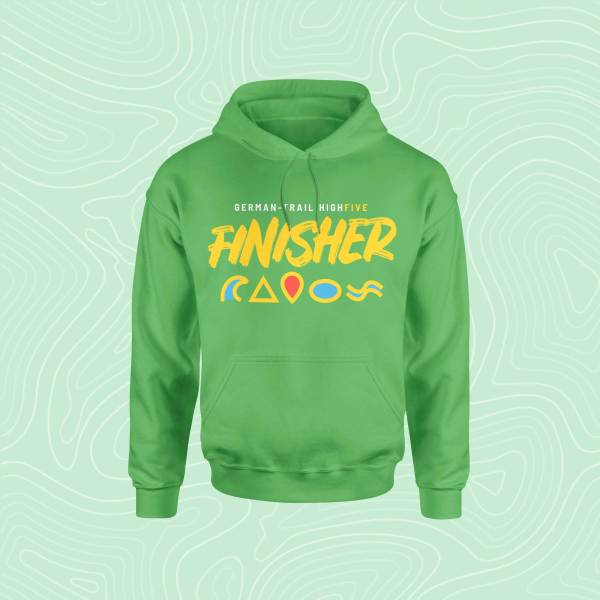 German-Trail High Five Finisher Hoodie Pullover Green Grün