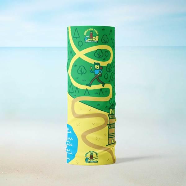 Dein Ostseeweg-Schlauch-Tuch Grün Green Stehend Strand Beach Hike