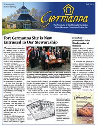 Germanna Foundation Newsletter, Fall 2013