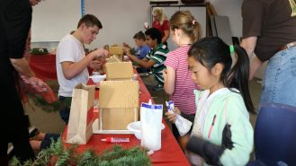 Gingerbread house contest GERMAN SCHOOL campus 2015
