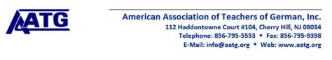 AATG American Association of Teacher of German