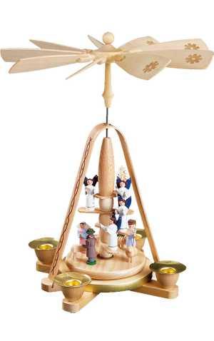 Richard Glaesser Pyramid - Nativity Scene and Angels