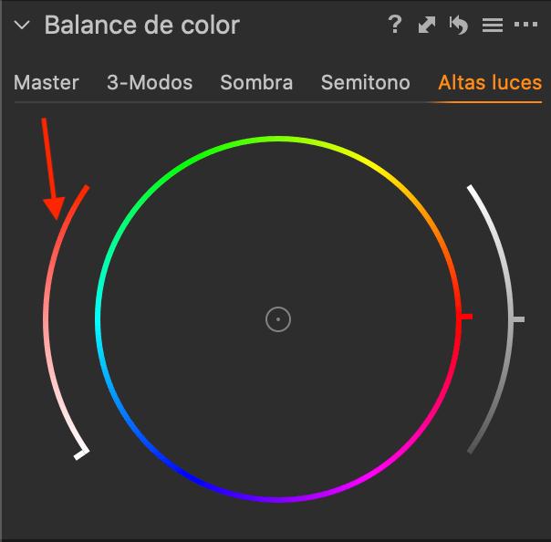 Balance de color - Saturación