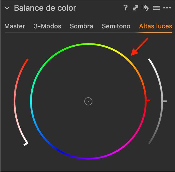 Balance de color - Tono