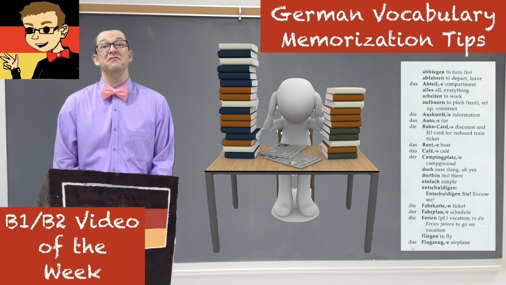 German Vocabulary Memorization Tips