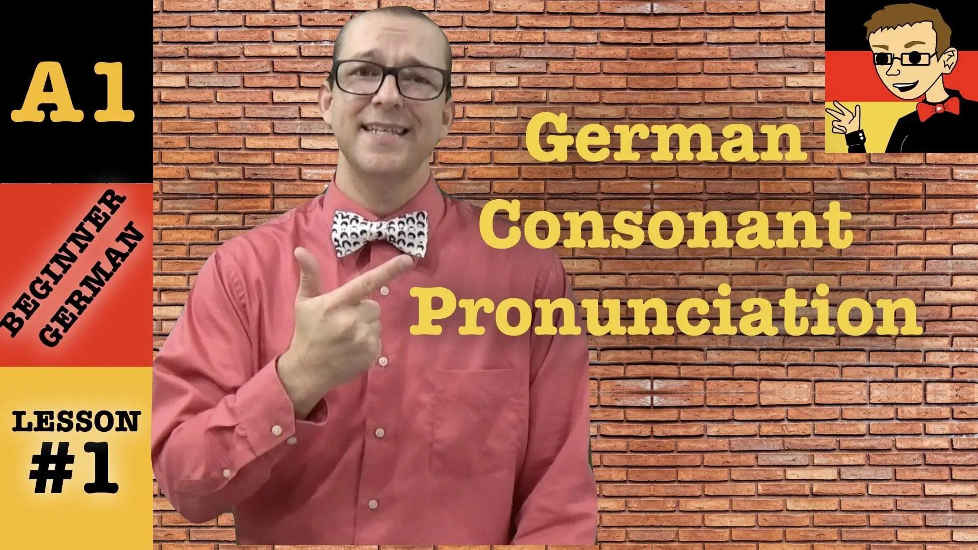 German Pronunciation Guide