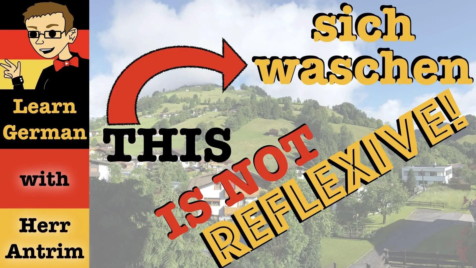 German Reflexive Verbs Don T Exist