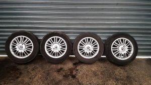 4 jantes aluminium renault scenic 2 16 pouces avec pneumatiques 205 60 r16 michelin reference 8200508092 curagao