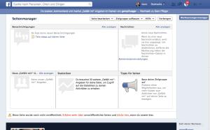 Erster Überblick über die neu geschaffene Facebook-Seite