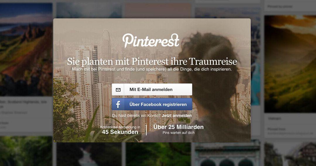 Einen Pinterest-Account erstellen – Schritt für Schritt