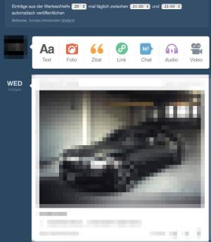 Tumblr-Warteschleife