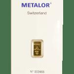 Metalor 1g gold bar front