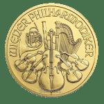 1oz vienna philharmonic gold coin obverse