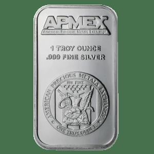 1 ounce silver bar apmex