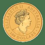 2021 1oz Gold Kangaroo Coin obverse