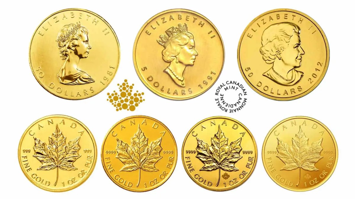 gold maple leaf coin design series