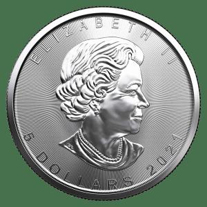 2021 1oz Silver Maple Leaf coin obverse