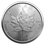 2021 1oz Silver Maple Leaf coin reverse