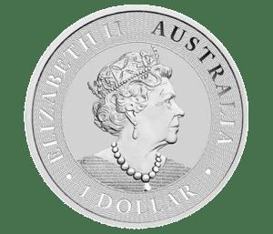 2021 1oz Silver Kangaroo coin obverse