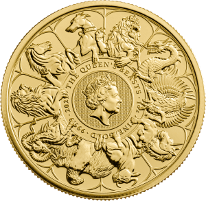 2021 1oz Gold Aueen's Beasts Completer Coin reverse