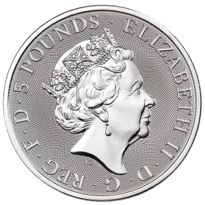 2oz Silver Queens Beasts Completer Coin obverse