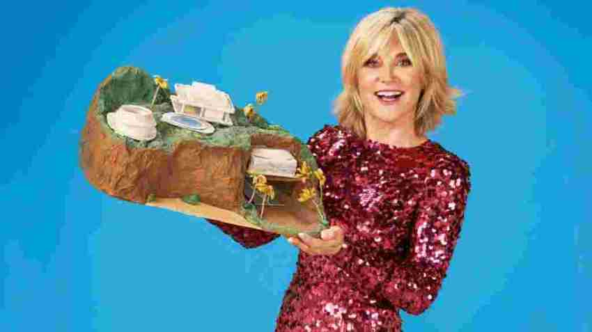 Anthea Turner with her Tracy Island Make
