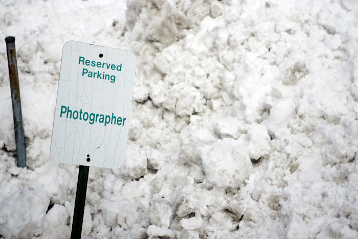 My personal parking spot @ The Courier-Times