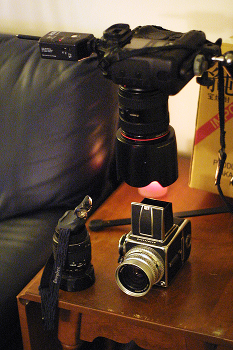 The setup for the self-portrait. ©2010 Max Gersh