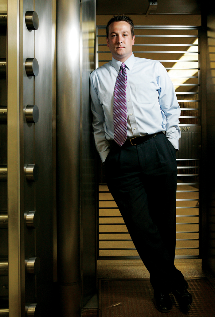 Seth Stevens is the business development officer for Citizen's State Bank in New Castle. ©2010