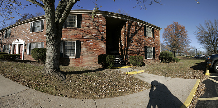 A quick test panorama of my apartment building using my DIY nodal slide. This panorama is composed of 14 images. ©2010