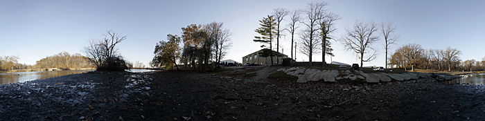 A 360 degree view in Memorial Park made from 55 separate images. Shot on my DIY nodal slide. ©2010