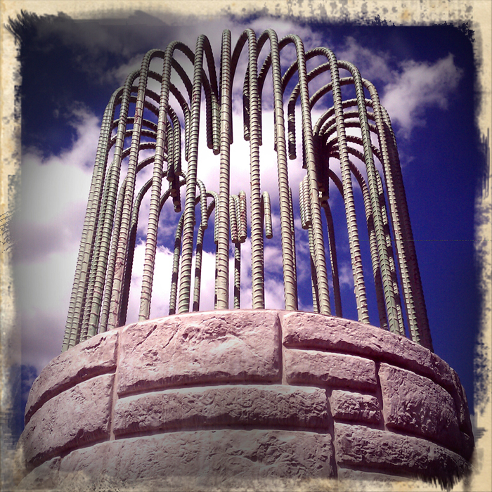 Supports for the new Morgan Street Bridge in Rockford. Shot using Retro Camera on a Droid Incredible. ©2012 Max Gersh