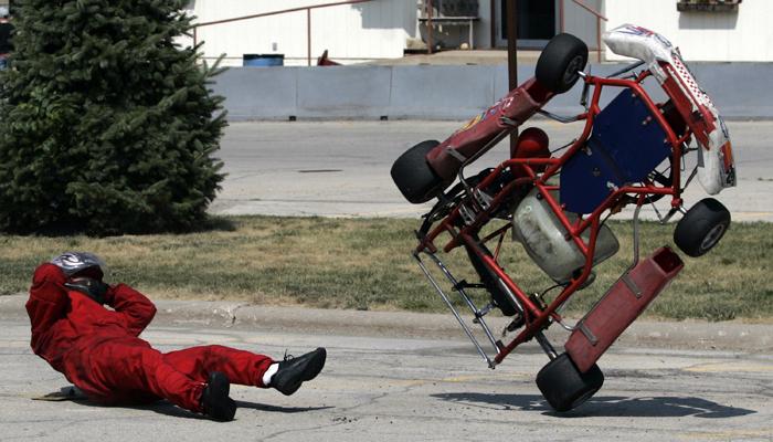 go cart crash