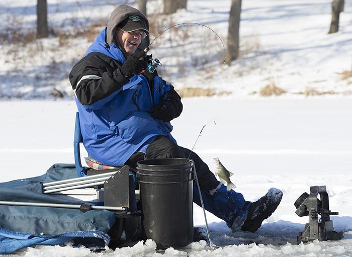 Ice fishermen