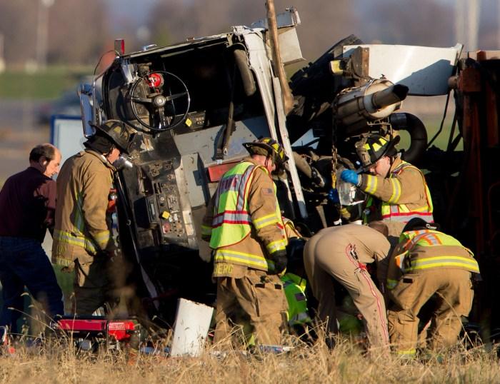 garbage truck crash