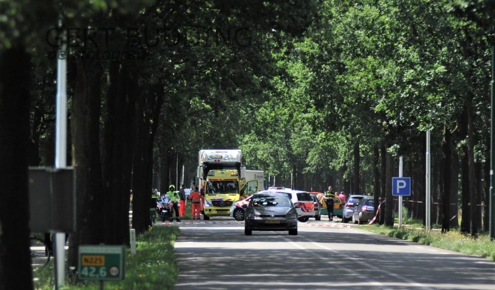 Ernstig ongeval N225 grens Utrecht/Gelderland