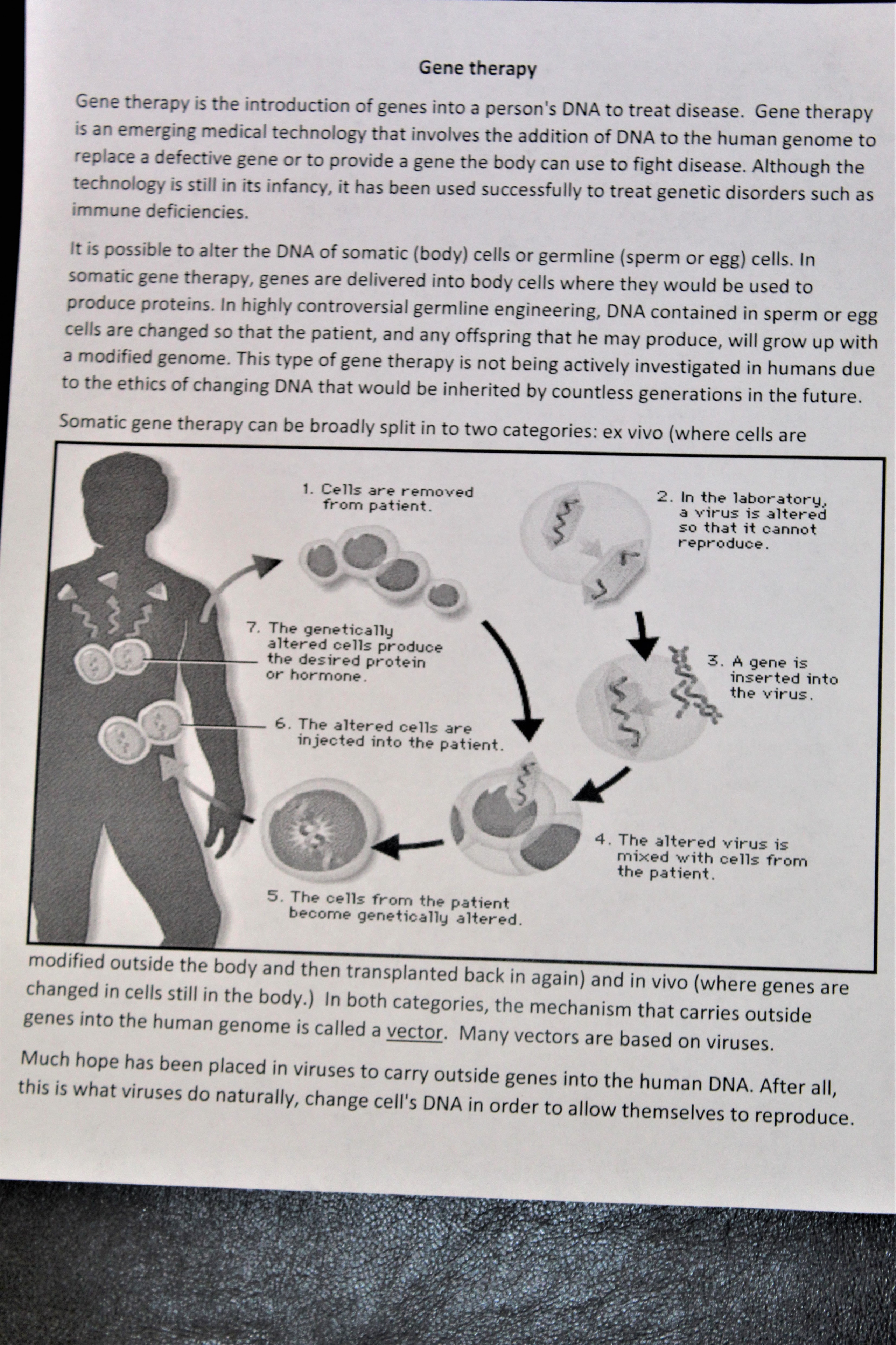 Gene Therapy Worksheet