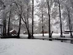 "Sodyba ""Gervių giesmė"" žiemą"