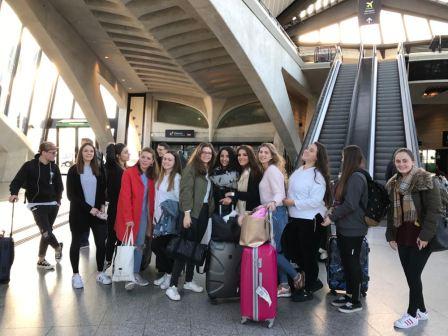 Ankunft des deutschen Teams in Lyon