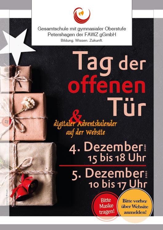 Tage der offenen Tuer am 4. und 5. Dezember 2020