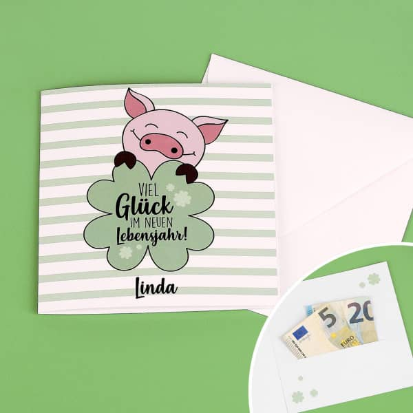 Geburtstagskarte Geld Herzlichen Gluckwunsch An Die Lieben