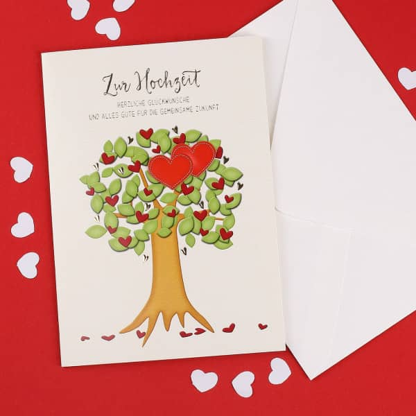 Grusskarte Aus Holz Geschenk Karte Hochzeit Herzlichen Gluckwunsch